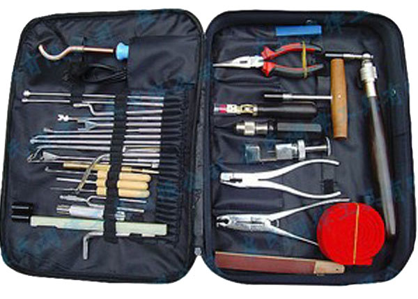 Pro piano tuning tool kit of 38 pces