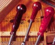 Pear handle piano tuning levers