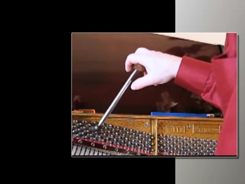 Piano tuning lever manipulation